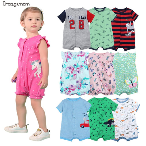 Orangemom official store Summer boys baby clothing Short  Jumpsuit Newborn Romper Baby Boy Clothes infant roupas Baby Rompers - babiesfamily