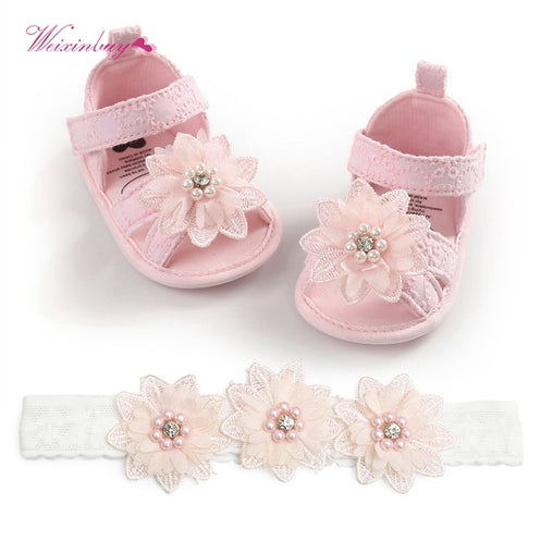 Baby Girl Flower Casual Summer Shoes - babiesfamily
