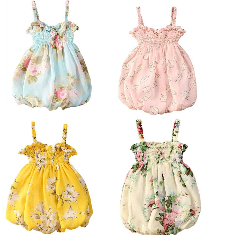 Baby Girl Summer Floral Sleeveless Dress - babiesfamily