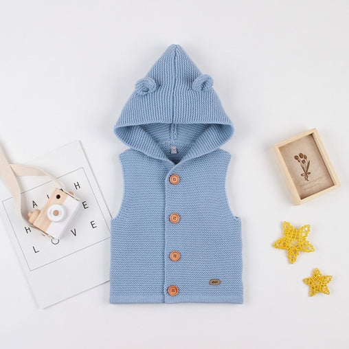 Baby Boys Sweater Sleeveless Outerwear - babiesfamily