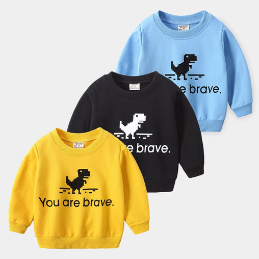 Dinosaur Hoodie Long Sleeve For Baby Boys - babiesfamily