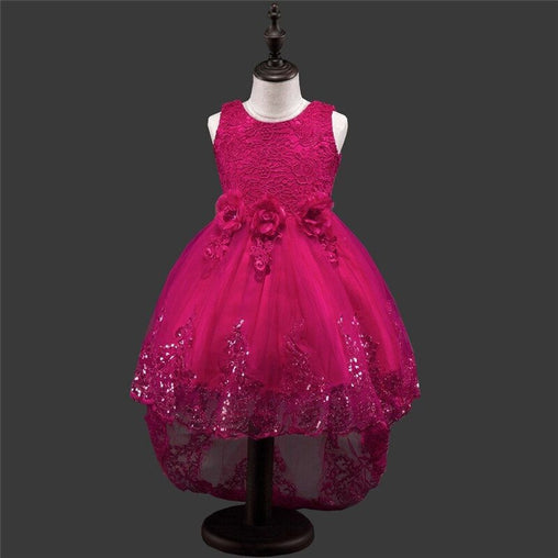 YWHUANSEN Flower Party Child Dress Kids Graduation Gown Crochet Summer Dresses Costume For Kids Wedding Dress Clothes For Girls