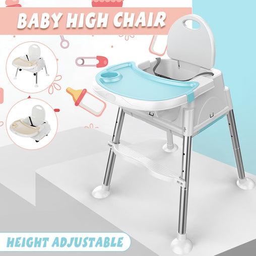 3 in 1 Modern Multifunctional Baby High Chair Feeding Seat Adjustable Kid Booster Seat Play Table Portable Children Safety Seat