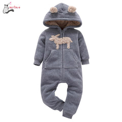 Baby Boys Winter Clothes Warm Hooded Fleece - babiesfamily