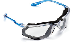 Safety Glasses, Virtua CCS Protective Eyewear 11872, Removable Foam Gasket, Clear Anti-Fog Lenses