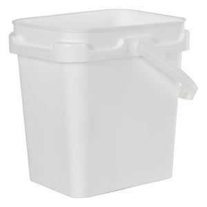 2 Gallon Super Kube White Pail with Handle and Lid