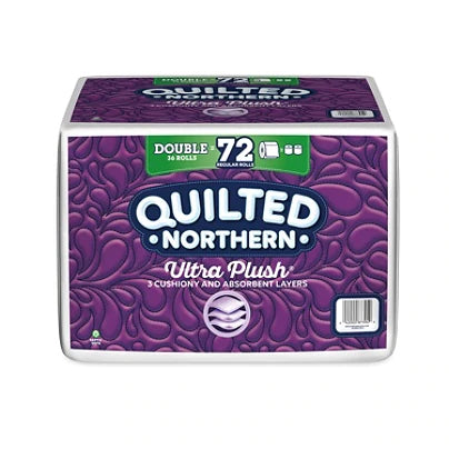 Quilted Northern® Ultra Plush® 3-Ply Toilet Paper, 154 Sheets Per Roll, Pack Of 36 Double Rolls