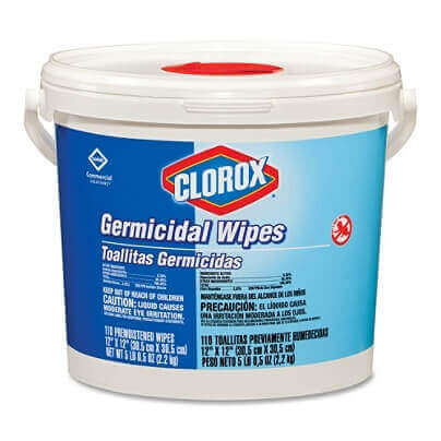 Clorox Germicidal Wipes, Container Of 110 Wipes / EPA N Approved