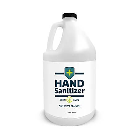 Hand Sanitizer with Aloe, Fragrance-Free, Case of 4 Gallons