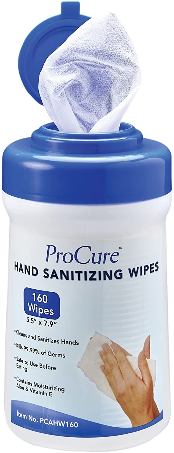 ProCure Hand Sanitizing Wipes - 160 wipes per container / 4 containers per case