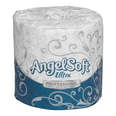 Angel Soft Ultra Professional Series® by GP PRO 2-Ply Embossed Bathroom Tissue Convenience Pack, 400 Sheets Per Roll, Case Of 20 Rolls