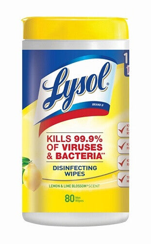 Lysol Disinfecting Wipes, Lemon & Lime Blossom Scent / EPA N Approved
