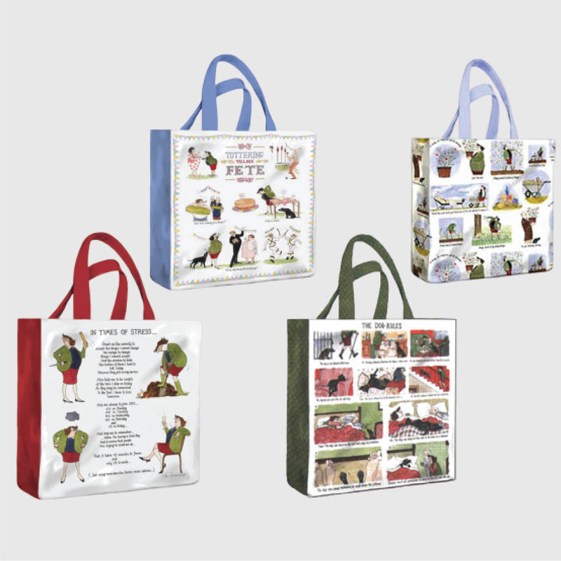 Tottering by Gently pvc shopping bag collection