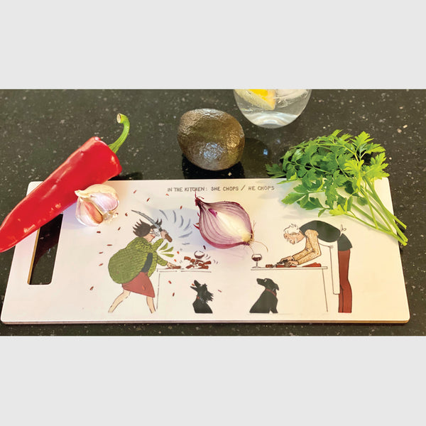 Chopping Board Tottering by Gently