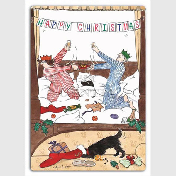 Christmas morning - Christmas card pack of 5