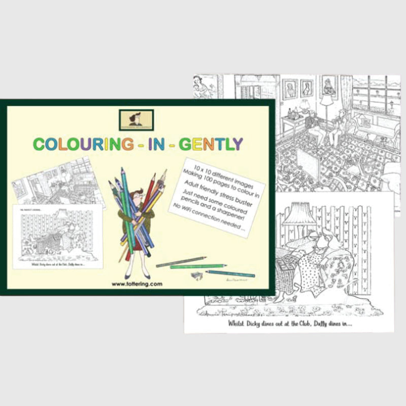 Tottering by Gently Colouring in book