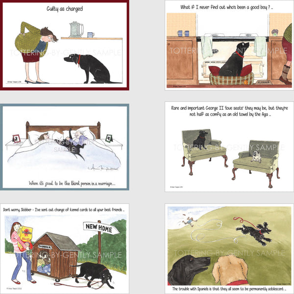Dog postcards | Tottering by Gently