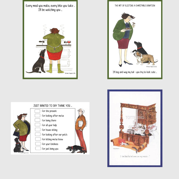 Dog postcards by Tottering by Gently