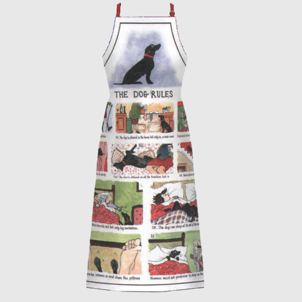 Tottering by Gently Dog Rules fullsize cotton kitchen apron