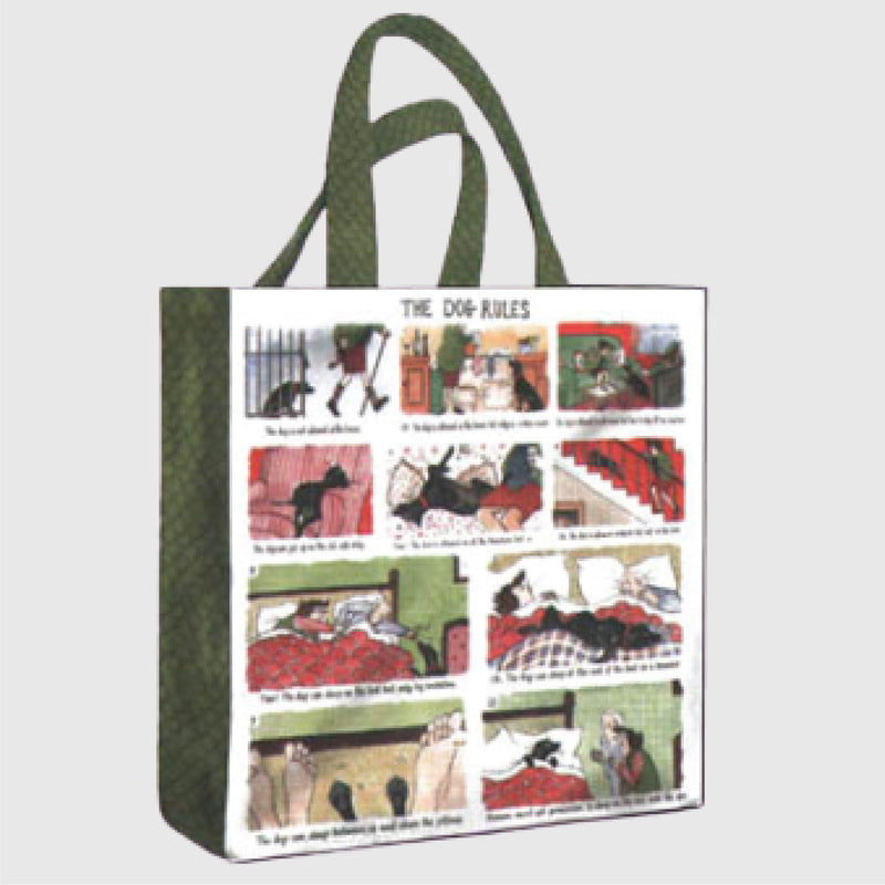 Tottering by Gently Dog Rules medium sized pvc shopper bag