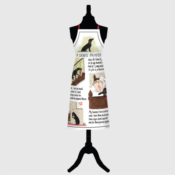Dogs Prayer full size kitchen Apron | Tottering by Gently