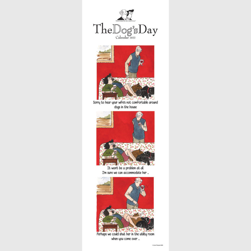 Dogs Day | Tottering by Gently 2021 Calendar slim wall planner