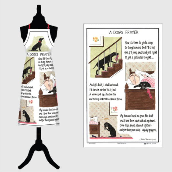Dogs Prayer apron & tea towel