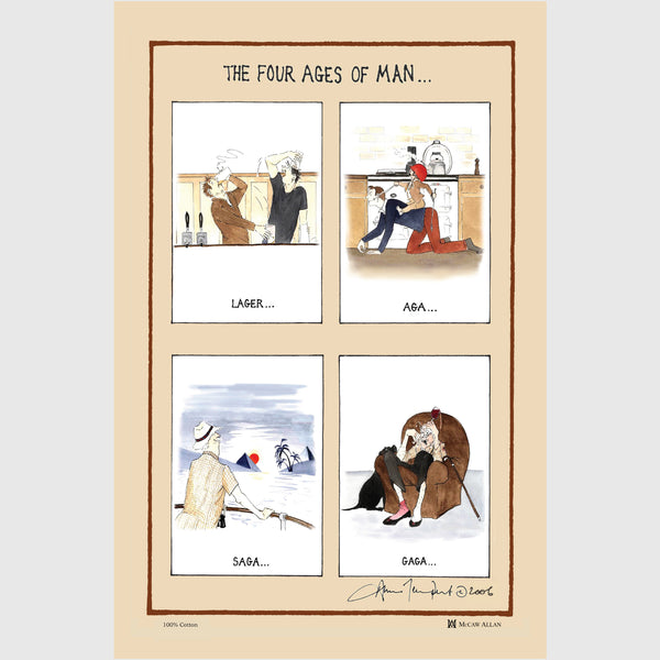 Four Ages of Man - tea towel