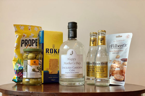 Frisky Partridge Gin & Treats gift box hamper for Mother's Day and all occasions