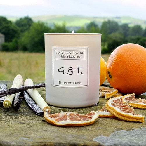 G&T Gin & Tonic Natural Soy Wax Candle by Littlecote Soap Co.  Natural Luxuries | Frisky Partridge