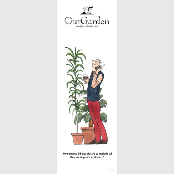 Tottering by Gently Our Garden Couples Calendar 2021 slim planner