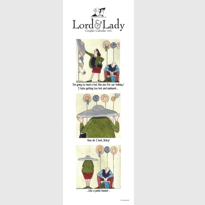 Tottering by Gently Lord & Lady Couples Calendar 2021 Slim wall planner