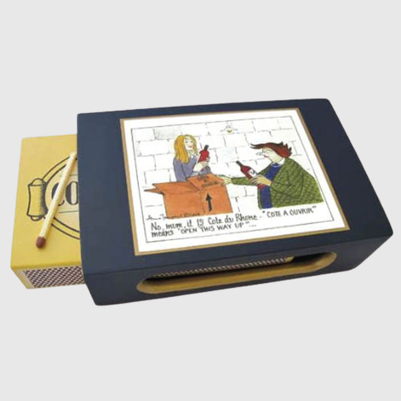 Tottering by Gently matchbox holder Cote du Rhone