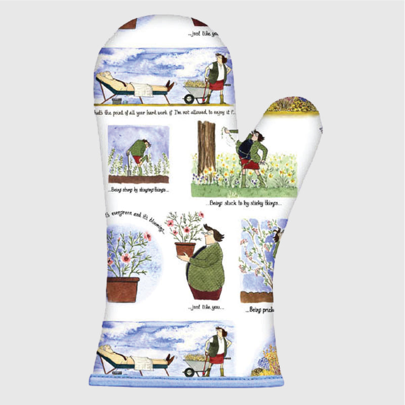Tottering by Gently Pleasure of Gardening oven mitt gauntlet