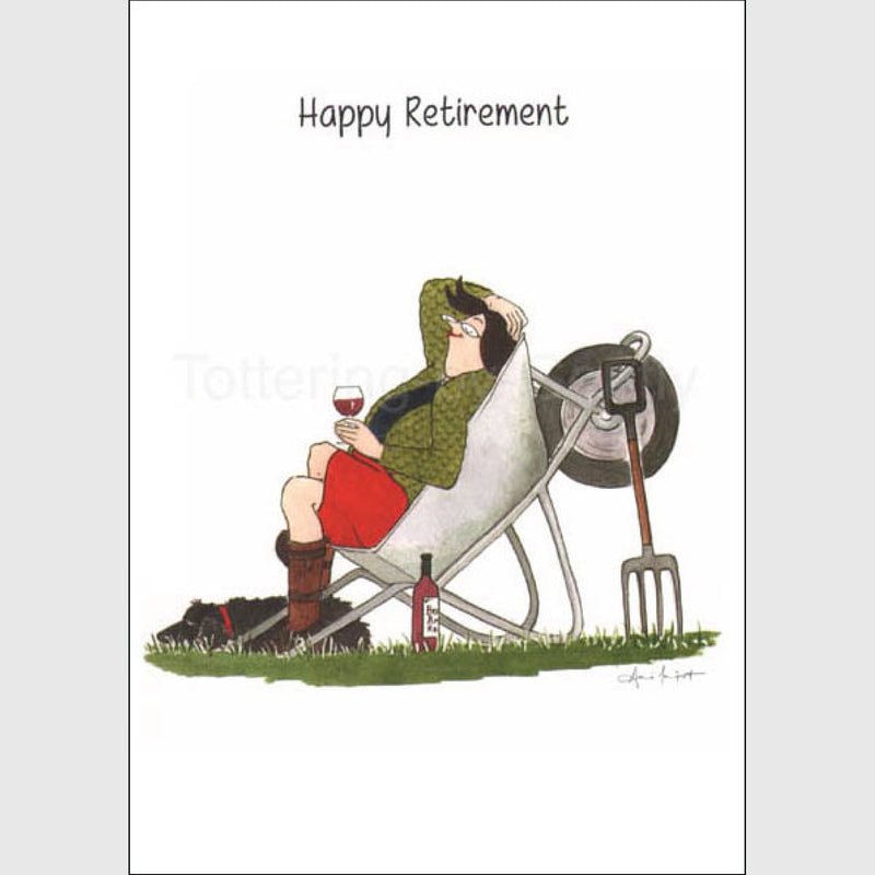 Tottering by Gently Happy Retirement greeting card