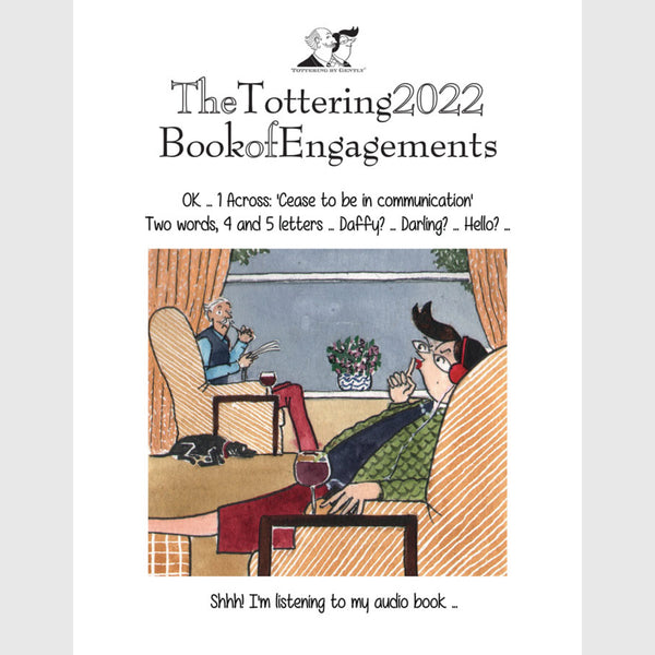 Tottering by Gently Book of Engagements Desk Diary2021