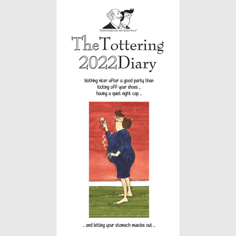 Tottering by Gently Slim Pocket Diary 2021