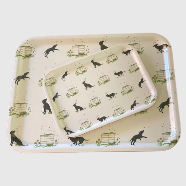 Slobber and beehives large printed Tottering by Gently tray