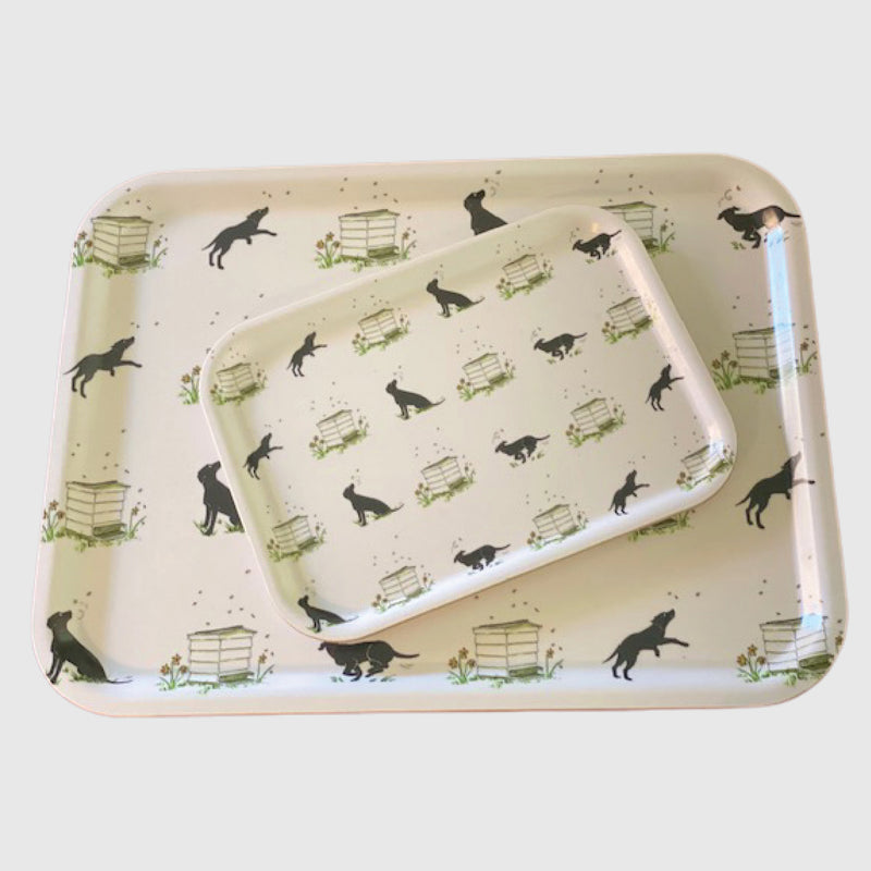 Slobber and beehives printed tray small and large