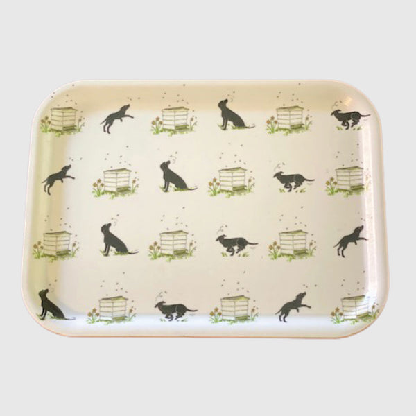 Slobber and beehives small printed tray