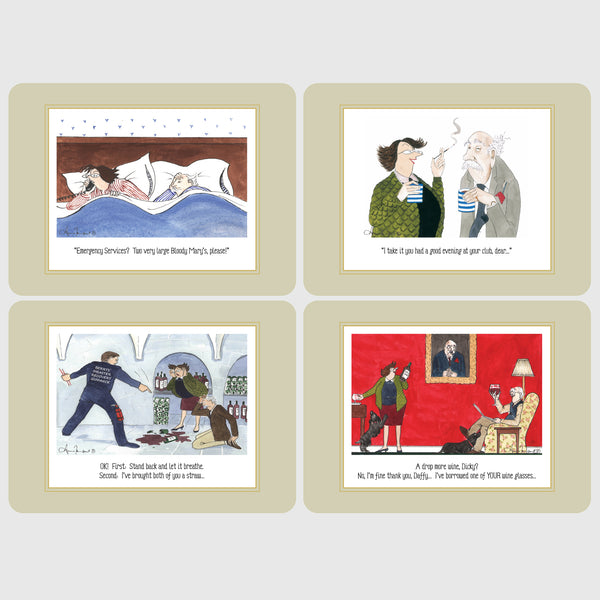 Boxed set of 4 Tottering by Gently deluxe table place mats
