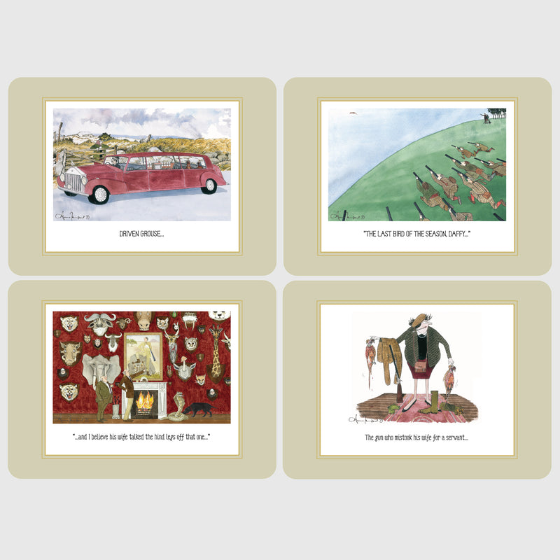 Boxed set of 4 deluxe Tottering by Gently table place mats