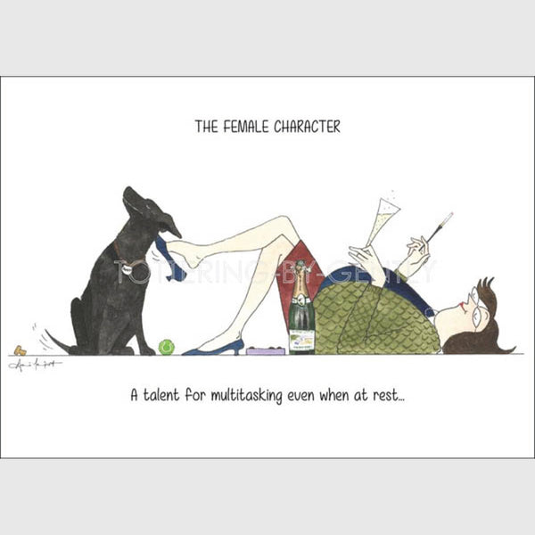 Dog Greeting Card | Tottering by Gently