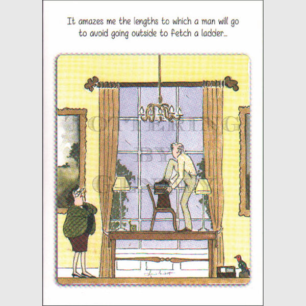 Fetch a ladder - Greeting card
