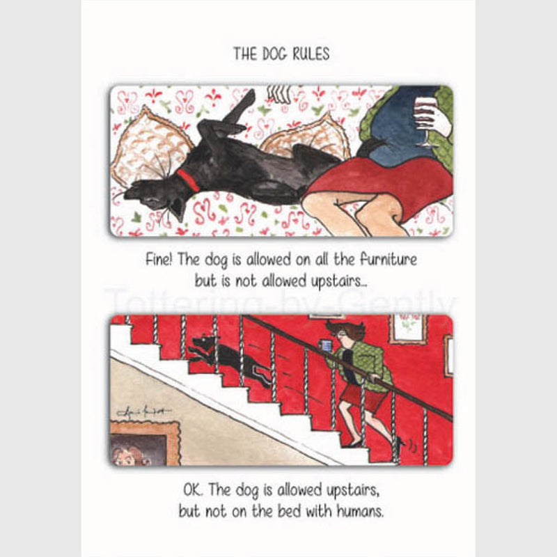 The dog can sleep between us - Greeting card