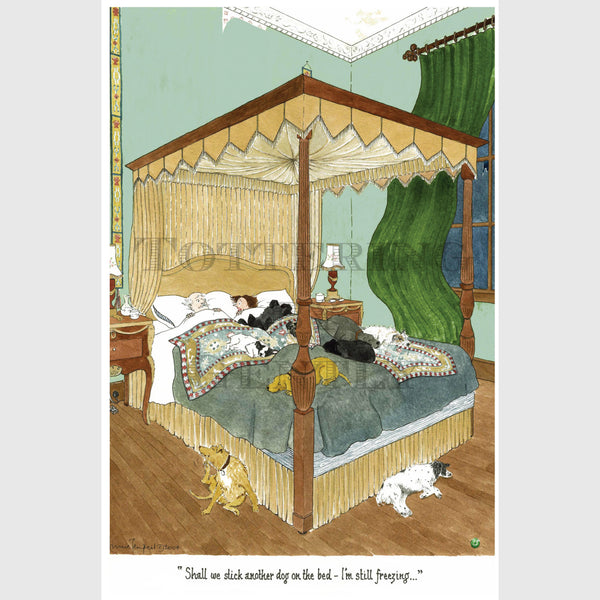 Another dog on the bed | Dog Greeting Card