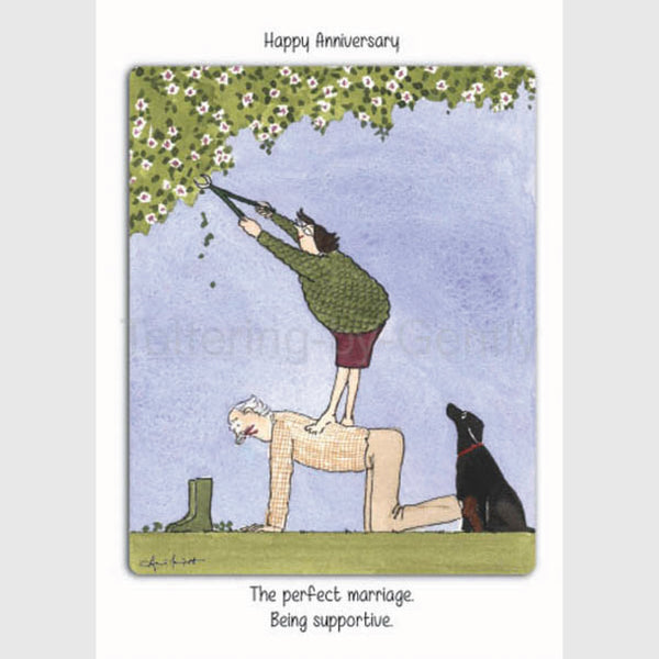 Happy Anniversary, being supportive- Anniversary greeting card