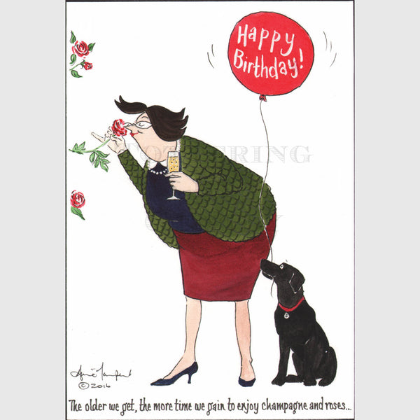 Tottering Happy Birthday Card