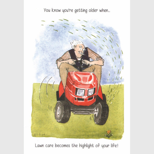 Lawn care - Happy Birthday greeting card