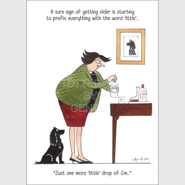 Tottering by Gently cartoon by Annie Tempest, Greeting card